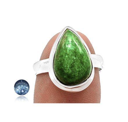 Sz 6, Rare Genuine Green JADE-ALBITE (aka Brenau Jade) Gemstone, 925 Solid Sterling Silver Ring Jewellery! by AmeogemJewellery on Etsy