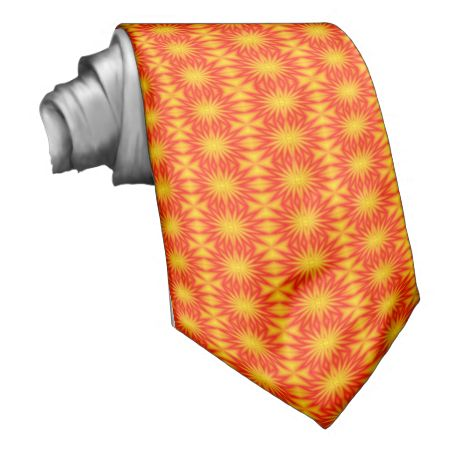 Abstract colored pattern neck tie