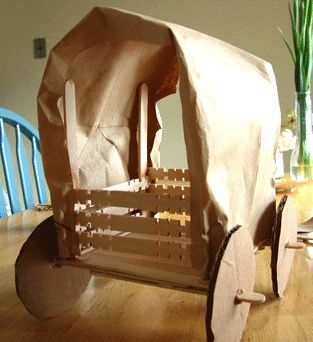 The Crafty Classroom covered wagon