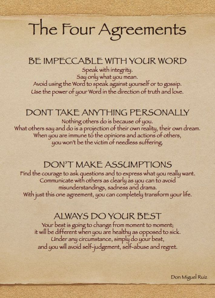 17 Best Ideas About The Four Agreements On Pinterest