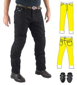 Men's Black Kevlar 300gsm Motorcycle Jeans w/ CE Armour | Finn Moto