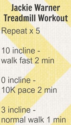 Jackie Warner Treadmill Workout