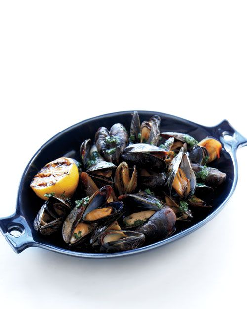 grilled mussels with herb butter cooking mussels grilled seafood herb ...
