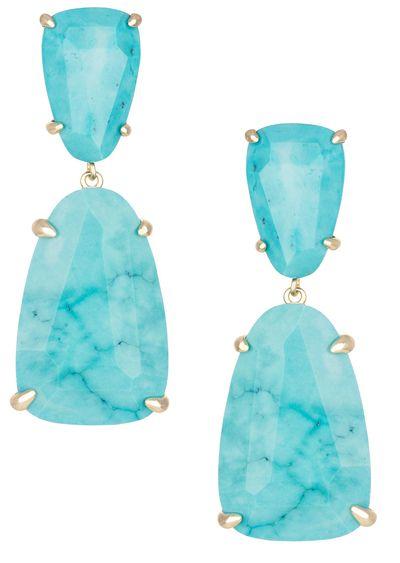Kendra Scott Turquoise Katie Drop Earrings