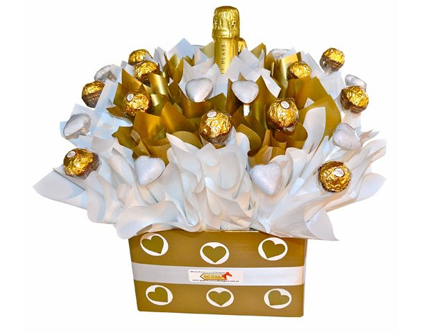 Sweet Temptation Chocolate and Bubbly Bouquet