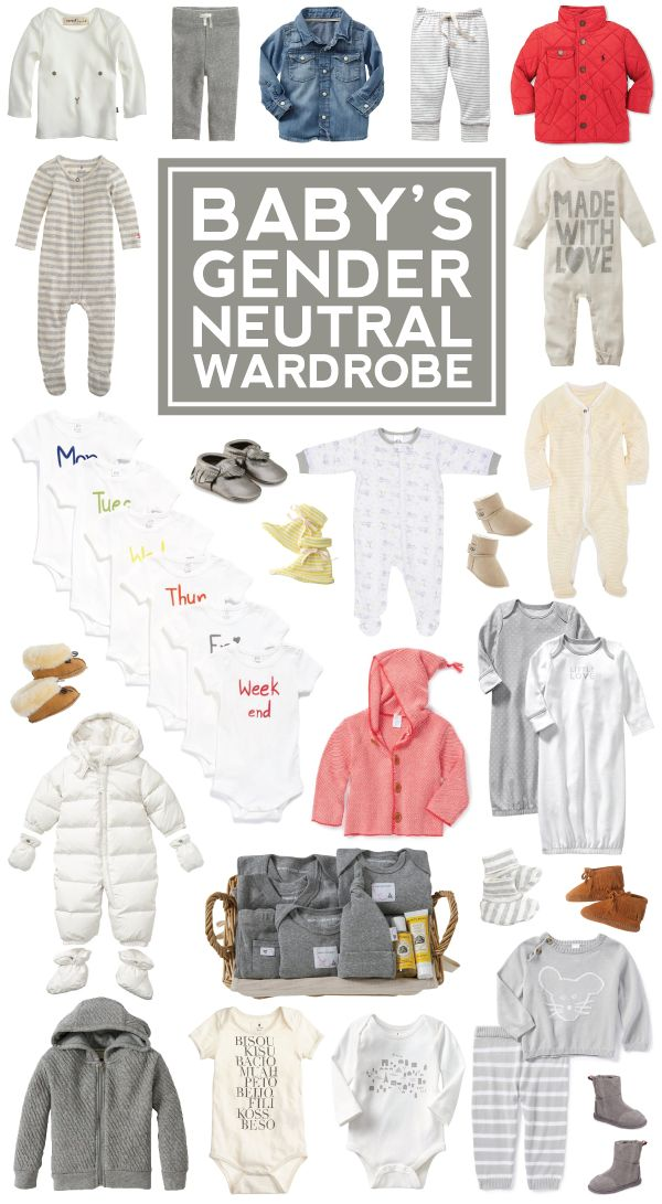 baby's gender neutral wardrobe.