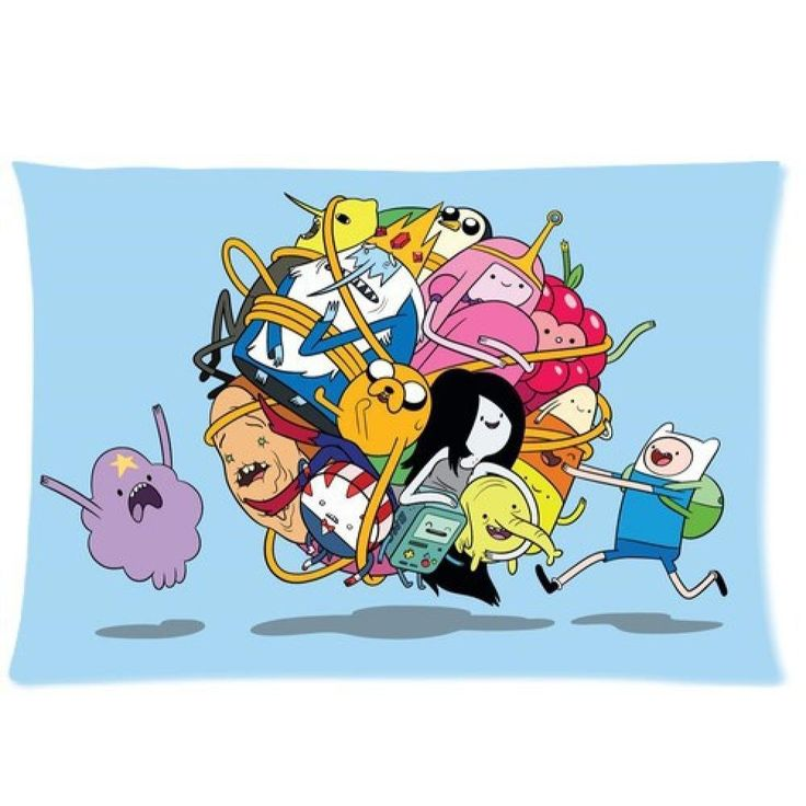 New Fashion-Kissenhülle Kissenbezug Bund Kissen, Abenteuerzeit mit Finn und Jake, Adventure Time, ideales Geschenk, 20 x 30 cm 2 Seiten, für Kinderzimmer: Amazon.de: Küche & Haushalt