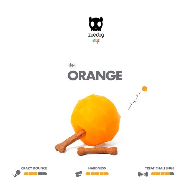 Zee.Dog Toys | Super Fruitz | The Orange