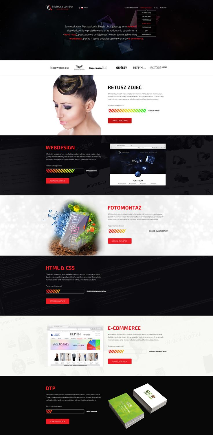 Personal Portfolio v2 http://mateuszlomber.com #webdesign #design #web #portfolio #lumberpack #graphic #strona #www #cv #grafik #komputerowy #webdesigner #designer #behance
