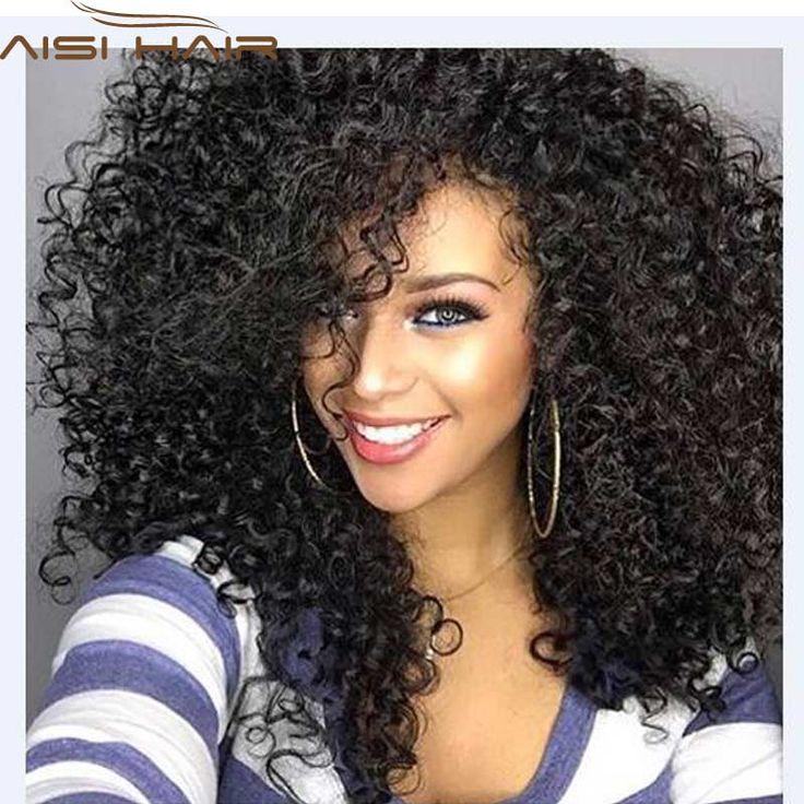 """Crépus Bouclés Afro Perruque 22 """"longue Crépus Bouclés Perruques pour les Femmes Noires Cheveux Noirs Perruque Afro-américaine Synthétique Pas Cher Perruques pour Femmes"""