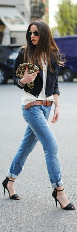 #fashion #street #woman #style #jeans ✔BWC