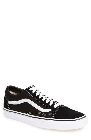 Free shipping and returns on Vans 'Old Skool' Sneaker (Men) at Nordstrom.com. Classic canvas style with suede accents features a comfortably padded collar and a flexible rubber sole.