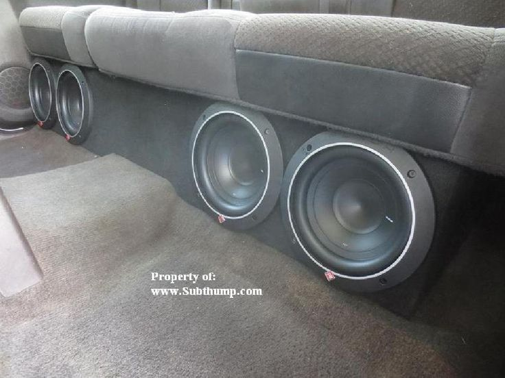 2007-2013 Chevy Silverado / GMC Sierra Crew Cab Quad 8 Front Fire Subwoofer Box