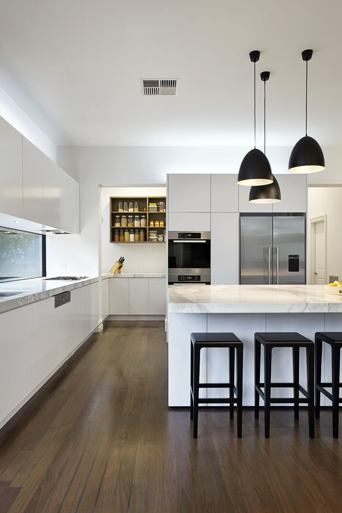 LSA Architects - East Malvern, Kitchen and Butlers pantry.