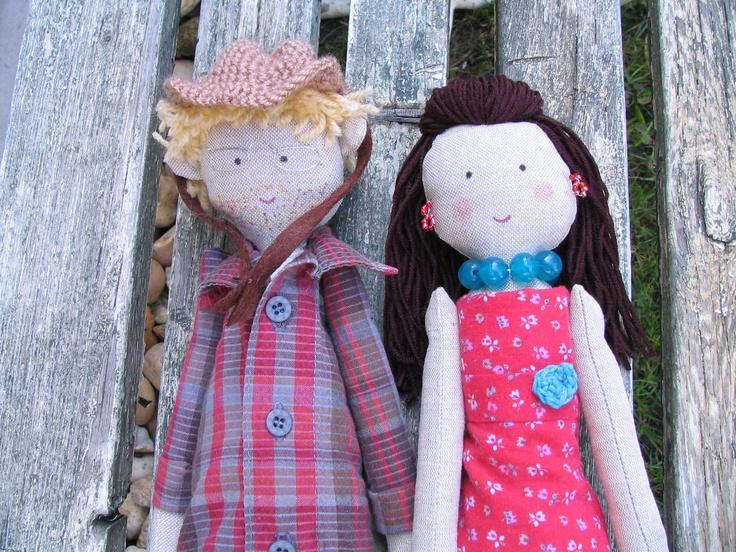 Wedding ragdolls, custom personalized ragdolls, bride and groom ragdolls, just married dolls, dolls made from photo, wedding couple dolls. $80.00, via Etsy.