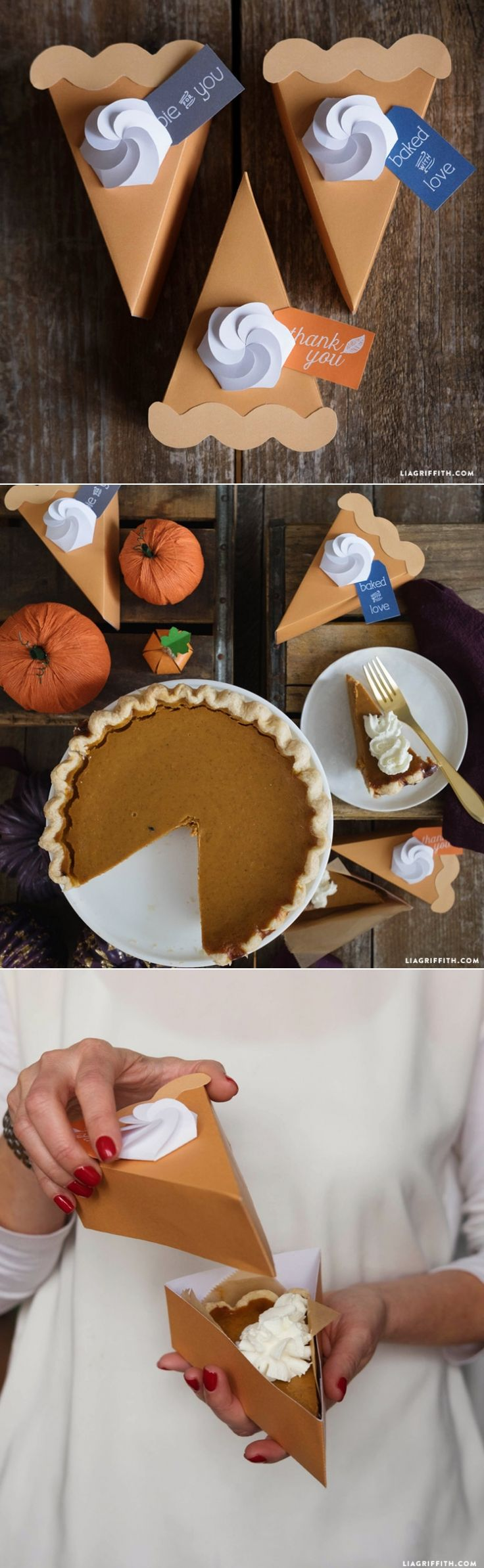 #PieToGo #ToGoBox #Thanksgiving #Papercraft www.LiaGriffith.com: