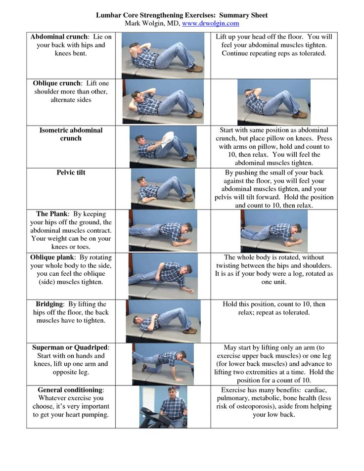 Lumbar Core Strengthening Exercises | workouts | Pinterest ...