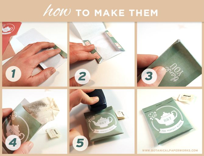 Five easy steps to create packages for tea bag wedding favors