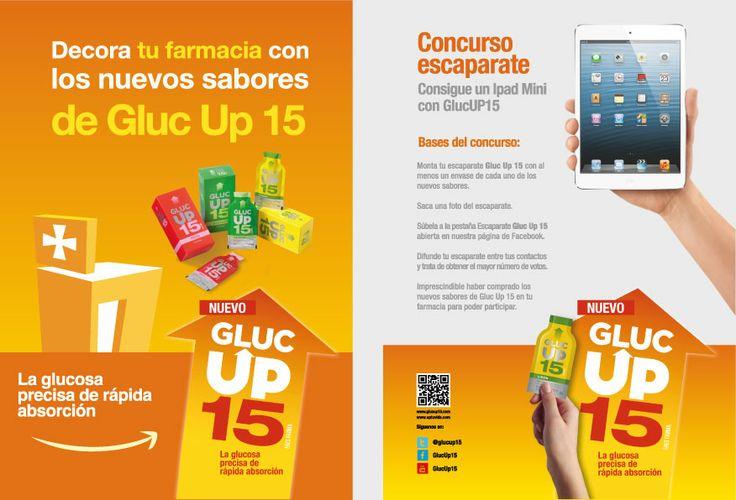 Participar es sencillo: 1.Monte su escaparate Gluc Up 15 con al menos un envase de cada uno de los nuevos sabores (fresa y manzana). 2.Saque una foto al escaparate. 3.Súbala a la pestaña Escaparate Gluc Up 15 abierta para el concurso. 4.Difunda su escaparate entre sus contactos y trate de obtener el mayor número de votos. Es imprescindible haber comprado los nuevos sabores de Gluc Up 15 para poder participar. #farmacia #farmacéutico #iPad #iPadMIni