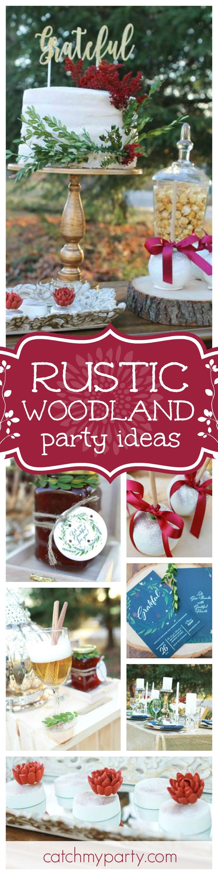 Don't miss this fantastic Rustic Woodland party! I love the dessert table!! Absolutely gorgeous!! See more party ideas and share yours at CatchMyParty.com