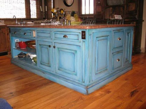 colorful kitchen distressing - Google Search