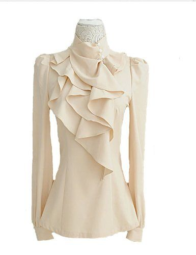 PrettyGuide Women Stand-up Collar Office Irregular Ruffle Multi-layers Shirts Tops Blouse S US0 PrettyGuide http://smile.amazon.com/dp/B00L68Z802/ref=cm_sw_r_pi_dp_uj62ub0Z0VB3T