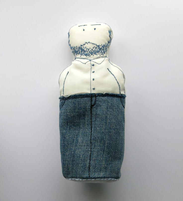 man doll - softie doll -plush doll - cloth art doll - portrait doll -Beard doll- fabric doll- geekery doll - fathers day gift - uk seller by itsaMessyNest on Etsy