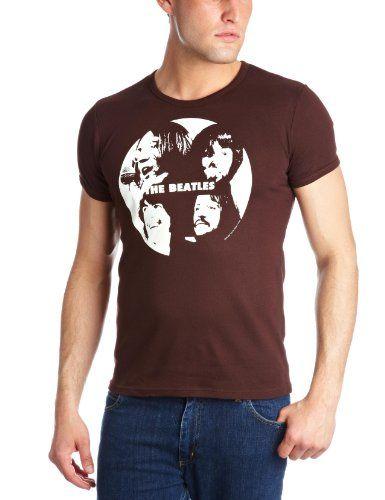 Logoshirt Beatles- The - Record - Camiseta de grupos de música, color marrón oscuro, talla X-Large #regalo #arte #geek #camiseta