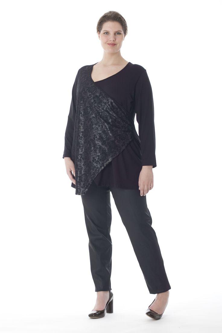exelle shirt, lace wrap-over part