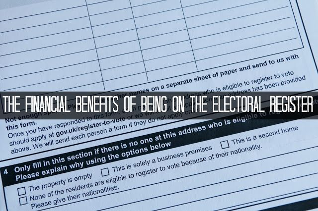 JibberJabberUK: Finance Fridays – The financial benefits of being on the Electoral Register. Did you know that not being on the electoral roll can damage your credit score and lead to you being refused loans and insurance?