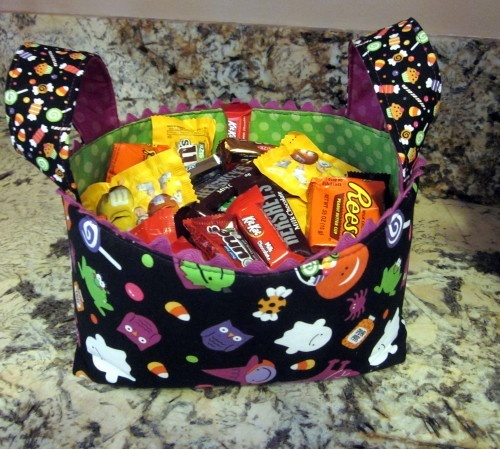 Halloween fabric basket for Trick or Treating