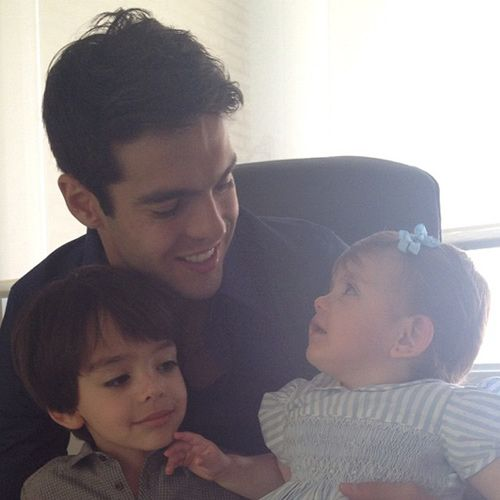 Kaká with Luca & Isabella...