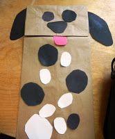 Preschool Playbook: Positively Pets paper bag puppet