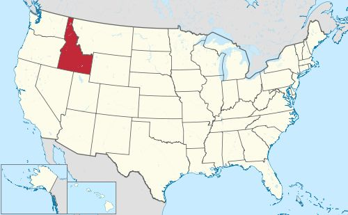 Idaho is east of Washington and Oregon, west of Montana and Wyoming, north of Utah and Nevada and south of Canada.