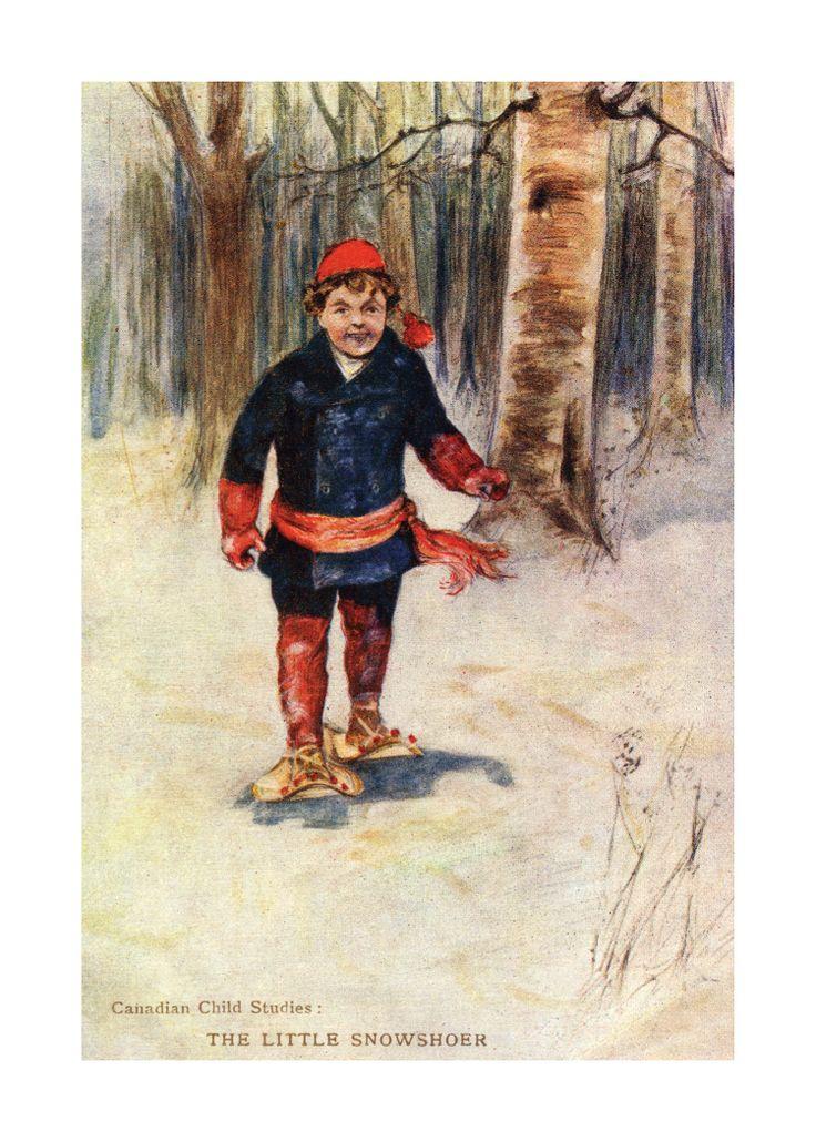 Canadian Vintage Art Print - THE LITTLE SHOWSHOER