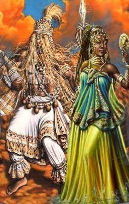 Obaluaye e Oxum - Pintor Jerry DÓxossi