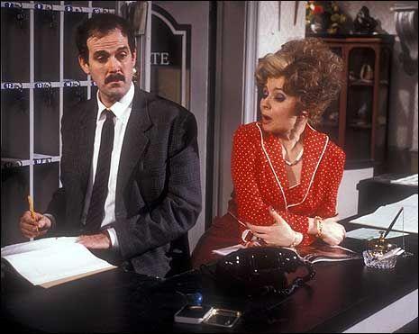 Basil and Sybil at reception …