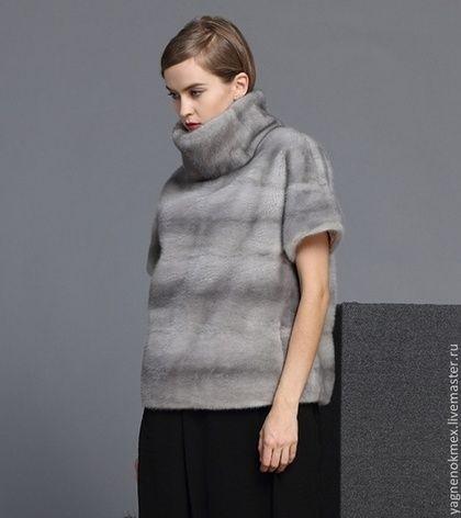 Свитерок из меха норки - серый,свитер,Норка,норка