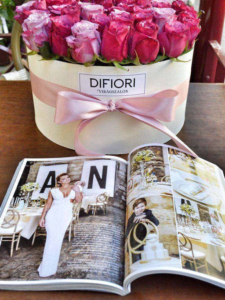 Esküvői virágdekorációnk és menyasszonyi csokrunk az Esküvő Classic magazinban