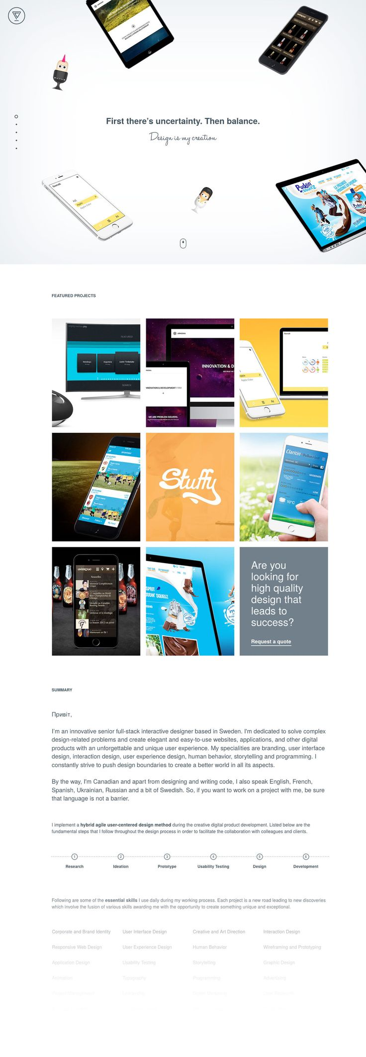 Volodymyr Chernov (More web design inspiration at topdesigninspiration.com) #design #web #webdesign #sitedesign #responsive #ux #ui