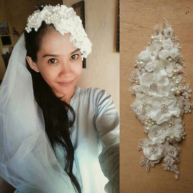 wedding headpiece handmade