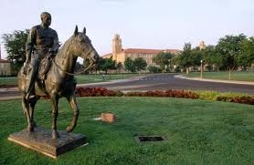 One of the most well known landmarks on campus is the statue of Will Rogers and his horse Soapsuds.     The horse and Will were turned 23 degrees to the east so the horse's posterior was facing in the direction of Texas A&M, one of the school's rivals.