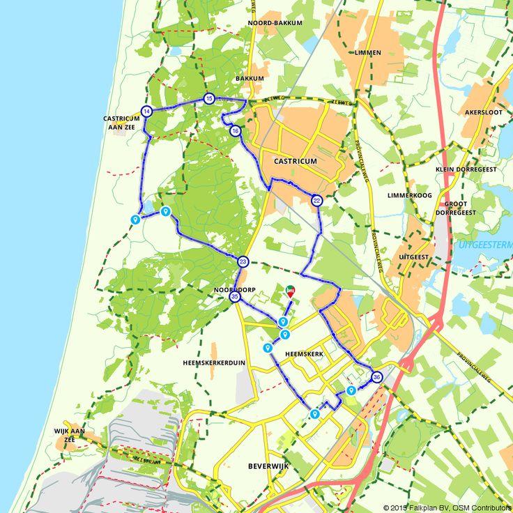 Fietsroute Rondje Heemskerk voor een gezellig dagje uit. (http://www.route.nl/fietsroute/196059/rondje-heemskerk)