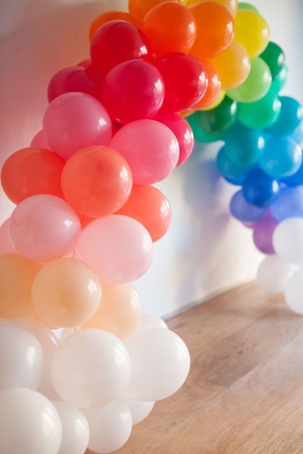 Mini Rainbow Balloon Arch DIY (picture by Paul Ferney)