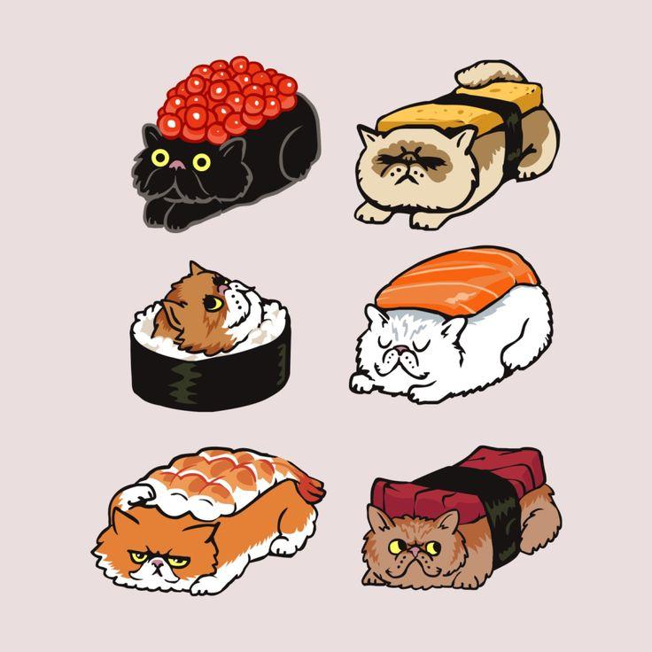 париже картинка сквиш суши котик уже попробовал свои