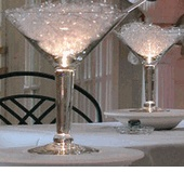 "Grande Martini Centerpiece Glasses 10"" tall 48 ounce $12 each / 4 for $11 each"
