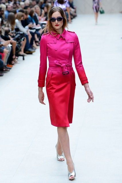 London Fashion Week: Burberry Prorsum SS2013. Love the ombre effect.