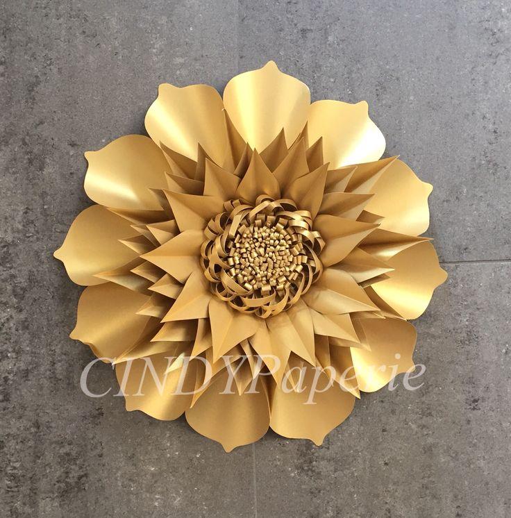 Gold paper flower