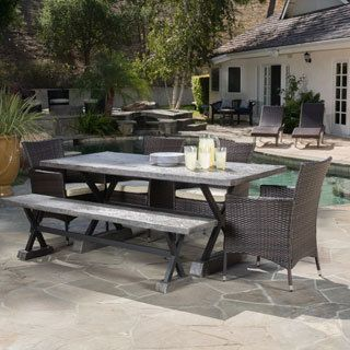 Christopher Knight Home Capri Outdoor 7-piece Dining Set with Cushions - 17725091 - Overstock.com Shopping - Big Discounts on Christopher Knight Home Dining Sets