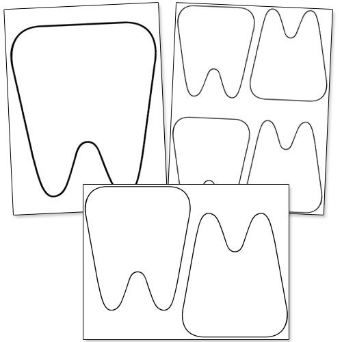 Dental Coloring Pages For Kindergarten : Free printable tooth template from printabletreats